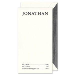 Tall Oyster Flat Card