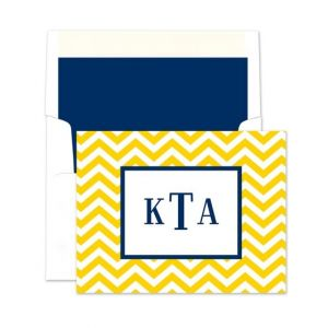 Chevron Note Card