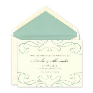 Border Scroll Flat Card