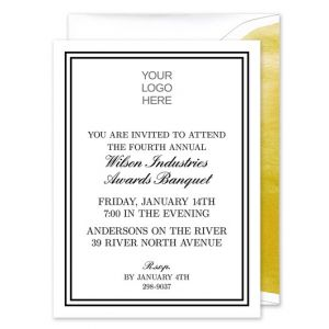 Custom Logo Invitation