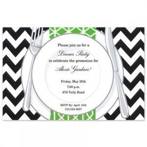 Chevron Plate Invitation