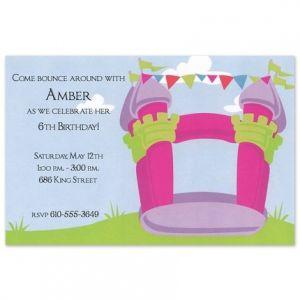 Bounce Girl Invitation