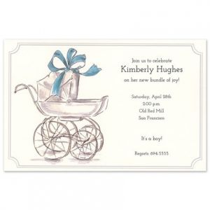 His Carriage Invitation
