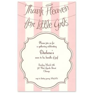 Angel Girls Invitation