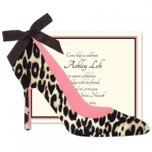 Leopard Heel Invitation