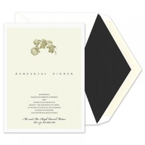 Green Hydrangea Invitation