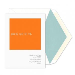 Orange Party Verb Invitation