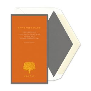 Burnt Orange Invitation