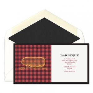 Plaid BBQ Invitation