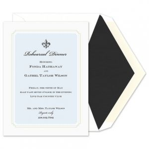 Regal Blue Invitation
