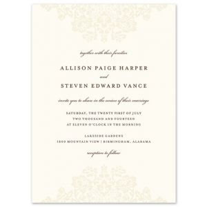 Wedding Bliss Invitation