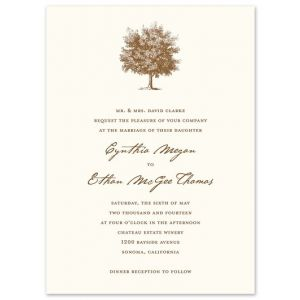 Under The Oak Invitation