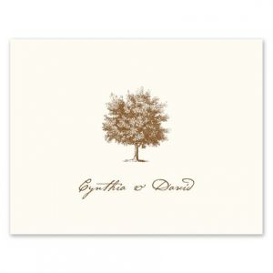 Under The Oak Note Card