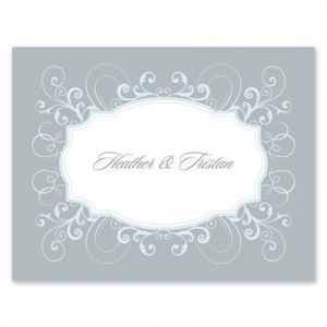 French Flourish Note Card