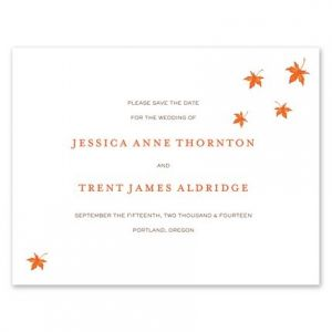 Autumn Leaves Flat Card