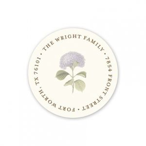Hydrangea Address Label