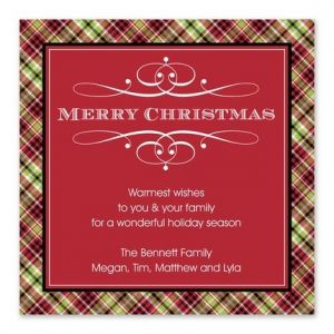 Plaid Border Greeting Card