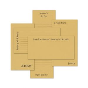 Tan Line Note Pad Set