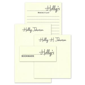 Ecru Memory Note Pad Set