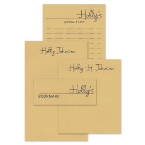 Tan Memory Note Pad Set