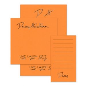 Orange Quote Note Pad Set