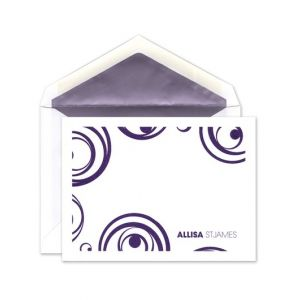 Purple Swirls Flat Card