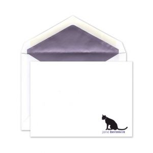 Purple Cat Flat Card