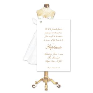 Mannequin Dress Invitation