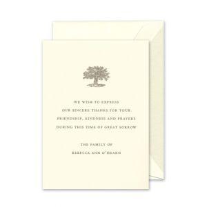 Peaceful Ecru Flat Card