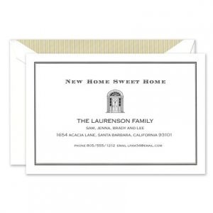 Gold Doorway Address Card