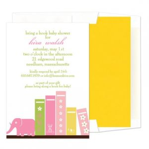 Pink Books Invitation