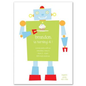Happy Robot Invitation