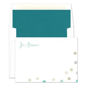 Scribble Dots Flat Card