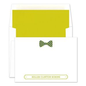 Striped Bowtie Flat Card