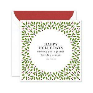 Festive Holly Greeting Card