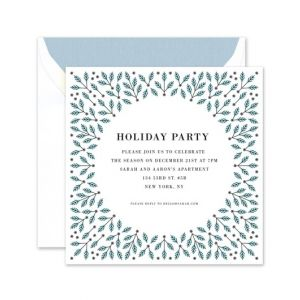 Winter Holly Invitation