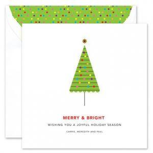 Retro Tree Greeting Card