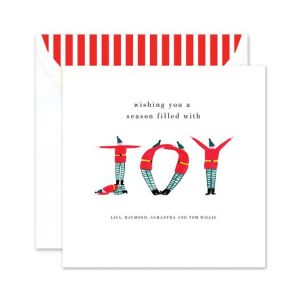 Elf Joy Greeting Card