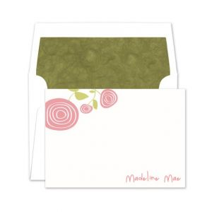 Coral Flower Flat Card