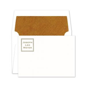 Square Name Flat Card