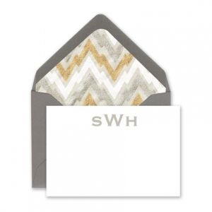 Gray & White Enclosure Card