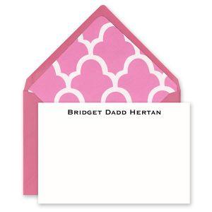Pink & White Flat Card