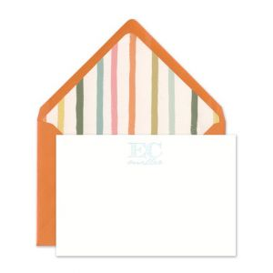 Orange & White Flat Card
