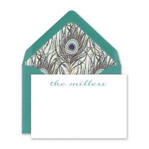 Peacock Enclosure Card
