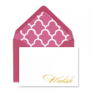 Pink & White Enclosure Card