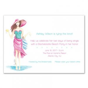 Beachy Babe Invitation