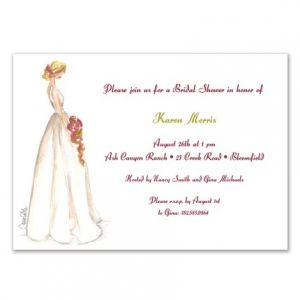 Beauty Bride Invitation