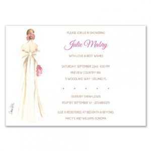 Bow Bride Invitation