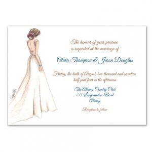 Classic Bride Invitation