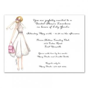 Honeymoon Bride Invitation